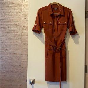 Sharagano Orange Dress Size 6
